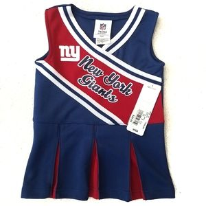 NWT NFL New York Giants Cheerleading Outfit 2T